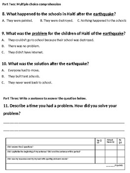 EL Education (Expeditionary Learning) 2nd Grade Module 1 Unit 2 Assessment