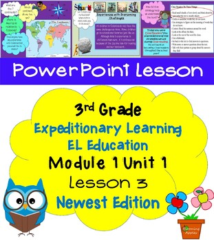 Expeditionary Learning EL Education 3rd Grade Power Point M1U1 Lesson 3