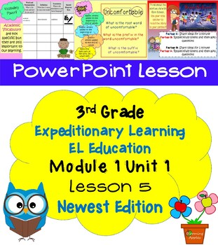 Expeditionary Learning EL Education 3rd Grade Power Point M1U1 lesson 5