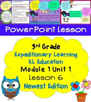 Expeditionary Learning EL Education 3rd Grade Power Point M1U1 lesson 6