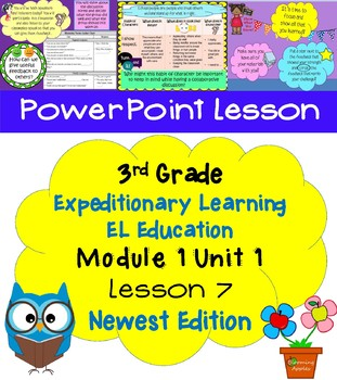 Expeditionary Learning EL Education 3rd Grade Power Point M1U1 lesson 7