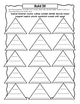 EL Education Foundations Skills Block 1st Grade Module 3 Cycle 12 Word Work