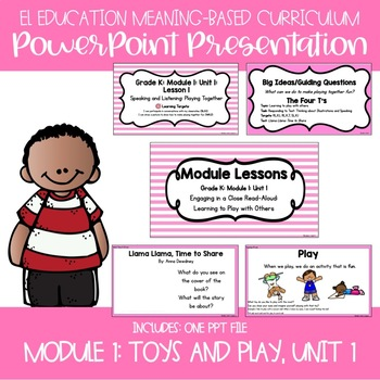 EL Education Kindergarten Module 1, Unit 1 Powerpoint