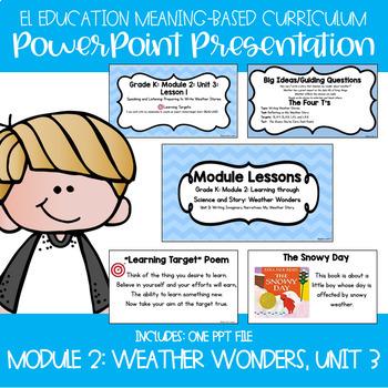 EL Kindergarten Module 2 Meaning-Based Module Lessons: Weather Wonders Bundle
