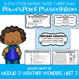 EL Education Kindergarten Module 2, Unit 2 Powerpoint