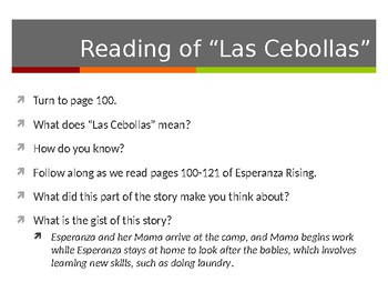 EL Education, Module 1, Unit 1, Lesson 11. Grade 5. Esperanza Rising