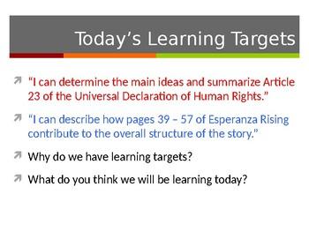 EL Education, Module 1, Unit 1, Lesson 6. Grade 5. Esperanza Rising