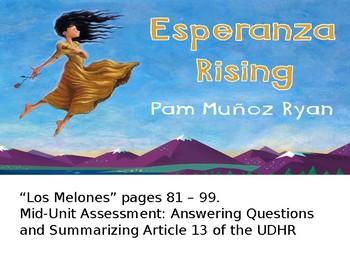 EL Education, Module 1, Unit 1, Lesson 9  Grade 5. Esperanza Rising