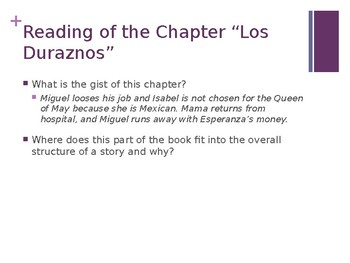 EL Education, Module 1, Unit 2, Lesson 7 and 8. Grade 5. Esperanza Rising