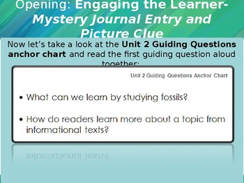 EL Education Module 2- Fossils Tell of Earth's Changes Unit 2, Lessons 1-12