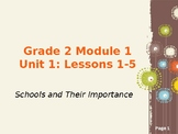 EL Education Modules- Schools and Community Unit 1, Lessons 1-5