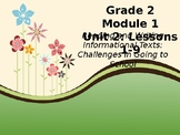 EL Education Modules- Schools and Community Unit 2, Lessons 1-9