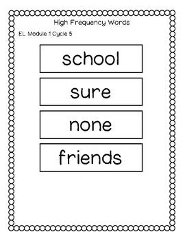 EL Education Spelling Words 2nd Grade Module 1 Cycle 1 to 5