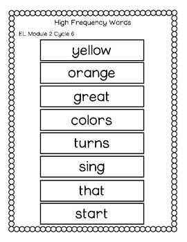 EL Education Spelling Words 2nd Grade Module 2 Cycles 6 to 12