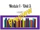 EL Education Third Grade Module 1 Unit 3