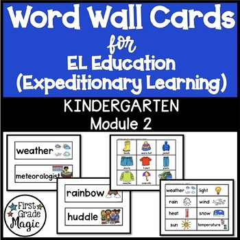 EL Education Word Wall Cards Module 2 Kindergarten