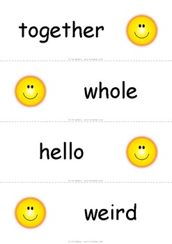 EL Grade 2 Module 2 Cycle 8 High Frequency word cards