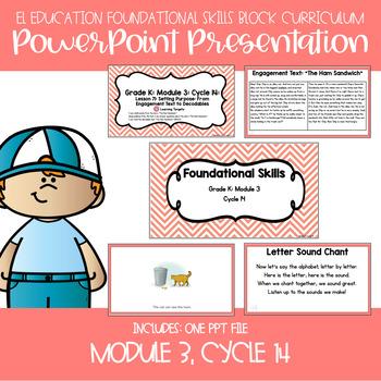EL Kindergarten Foundational Skills Module 3, Cycle 14, Lessons 71-75 PPT