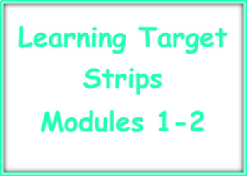 EL Kindergarten Learning Target Strips