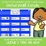 EL Kindergarten Module 3 Meaning Based: Trees are Alive Word Wall Cards