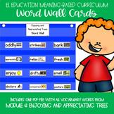 EL Kindergarten Module 4 Meaning Based: Enjoying Trees Word Wall Cards