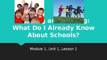 EL Module 1 Unit 1 Lesson 1