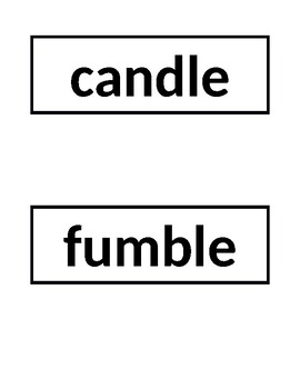 EL Module 2 Cycle 13 spelling words for pocket charts