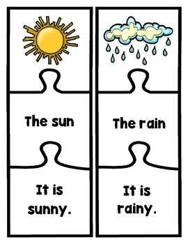 EL Newcomer Weather Vocabulary and Sentence Starters