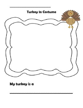 EL Pavo en disfraz- Turkey in Costume (English and Spanish)