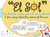 El SOL Bundle Cancion MP3 y actividades Español. The Sun, song Spanish.