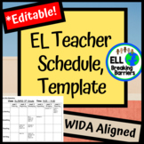 EL Teacher Schedule, Template