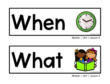Expeditionary Learning Word Wall Cards Module 1 and 2 First Grade