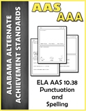 ELA 10.38 Punctuation & Capitalization AAA NEW Alabama Alt