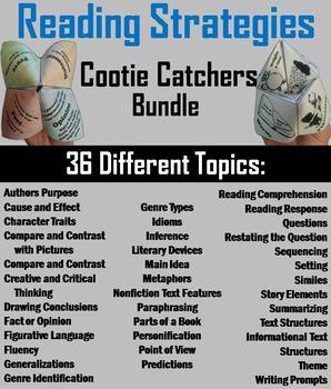 English Language Arts Games Bundle: Vocabulary, Grammar, Reading Strategies
