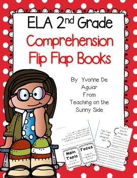 ELA 2nd Grade Comprehension Flip Flap Books