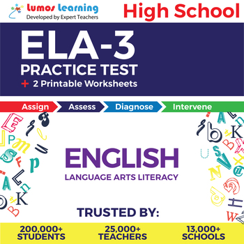 ELA-3 Online Assessment & Printable Worksheets - High School English