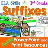 3rd Grade Word Study Suffixes PowerPoint and Print Bundle