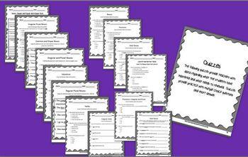 ELA Common Core Assessment Packet - Third Grade - Parts of Speech Bundle