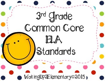 ELA 3rd Grade Common Core State Standards