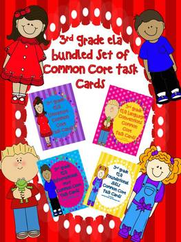 ELA 3rd Grade Common Core Task Cards BUNDLE: State Testing Review