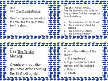 ELA 3rd Grade Literature Common Core Task Cards: Great Review