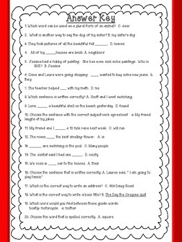 ELA 3rd Grade Language Conventions Task Cards Review: Great for State Testing