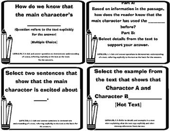 Florida State Standards-ELA 3rd grade Question Stems Task Cards -