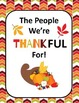 ELA 4-8: The People We're Thankful For, Thanksgiving Writing Activity