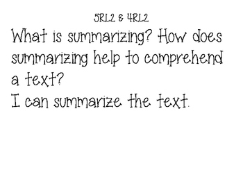 ELA 4th & 5th Grade Common Core Essential Questions and I can statements