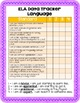 ELA 4th Grade Student Data Tracker: Language *EDITABLE*