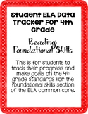 ELA 4th Grade Student Data Tracker: Reading Foundational Skills *EDITABLE*