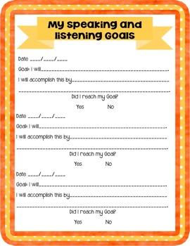 ELA 4th Grade Student Data Tracker: Speaking and Listening *EDITABLE*
