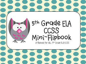 ELA 5th Grade Common Core Mini-Flipbook