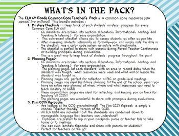 ELA 6th Grade CCSS Teacher's Pack